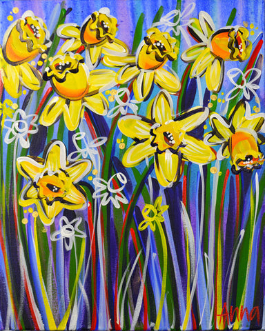 Studio Painting Party - Daffodil Field