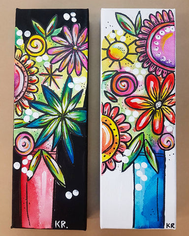STUDIO PAINTING PARTY - Flower Bomb Canvases - SUN 29 JULY, 1-4pm