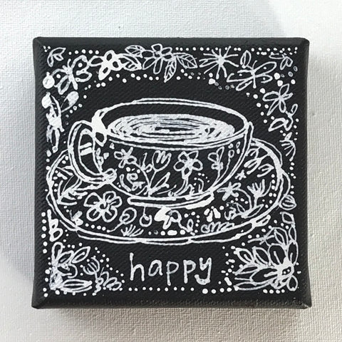 A Cup of Happy - Original Art Mini