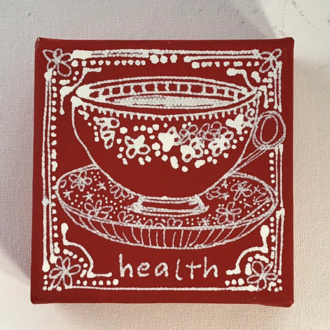 A Cup of Health - Original Art Mini