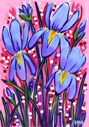 Online Paint Along - Irises