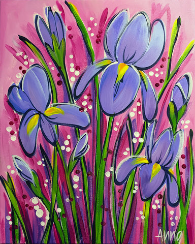 PRIVATE PAINTING PARTY (TANIA RAMKE) - Irises - SUN 12 AUG, 1-4PM