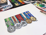 Watercolour Medals - Commissioned Painting