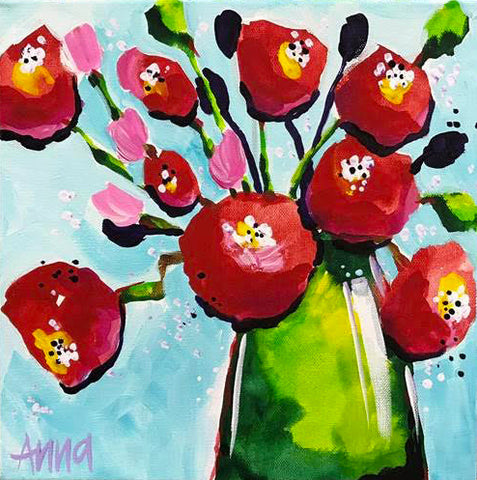 Online Paint Along - Loose Poppies