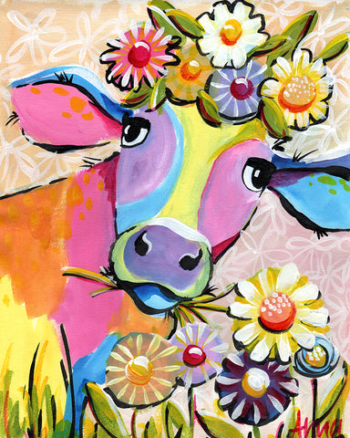 PRIVATE PAINTING PARTY (LAURA PATON) - Flower Crown Cow - FRI 28 SEPT, 6-9PM