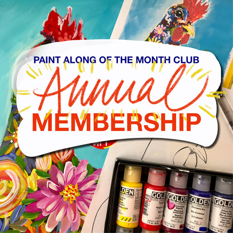 Paint Along of the Month Club - ANNUAL MEMBERSHIP