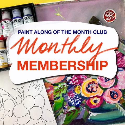 Paint Along of the Month Club - MONTHLY MEMBERSHIP