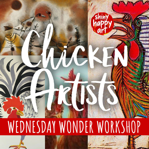 Wednesday Wonder Workshops - Term 3, 2018 - Chicken Artists :)