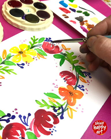 Watercolour Painting Party - Wreath - FRI 11 AUGUST 6:30pm