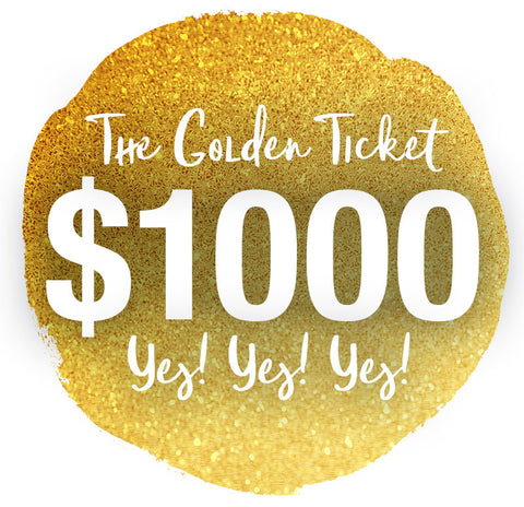 THE GOLDEN TICKET - The $1000 Gift Card