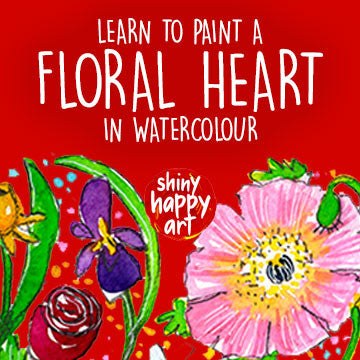Online Video Series - Floral Heart in Watercolour