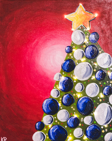 Studio Painting Party - Christmas Tree with Lights