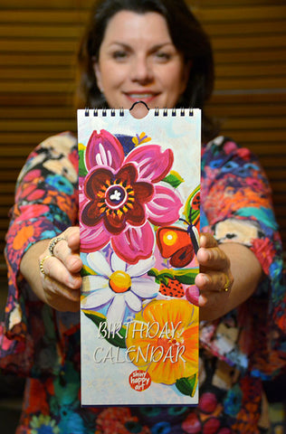 Birthday Calendar - Floral Heart Birthday Wishes