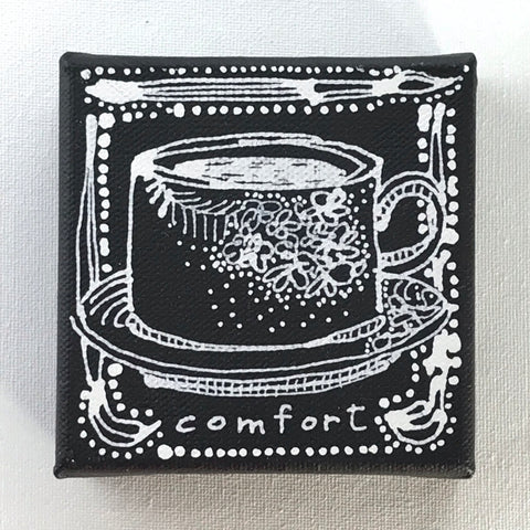 A Cup of Comfort - Original Art Mini