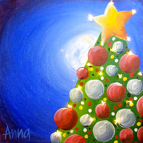 Online Christmas Paint Along - CHRISTMAS LIGHTS