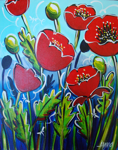 Online Paint Along - Poppies