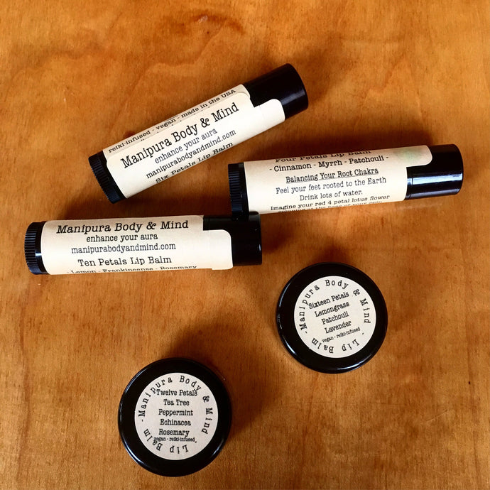Six Petals Lip Balm: Rosemary, Orange, & Jasmine