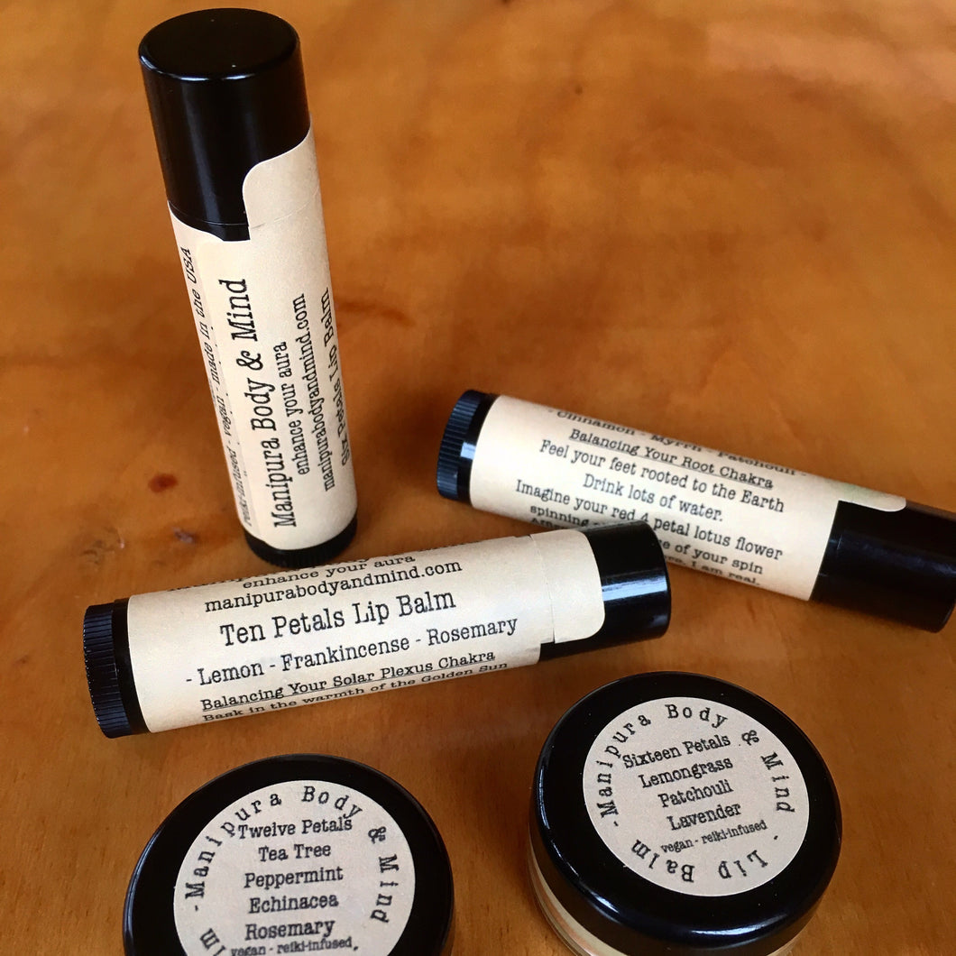 Lip Balm: Tea Tree, Eucalyptus, Peppermint, & Rosemary (Heart Chakra)