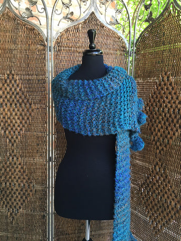 """Fireside Amazonia"" - Rectangle Ruffle Wrap"