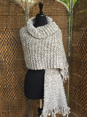 """Clouds"" - Rectangle Fringe Wrap"