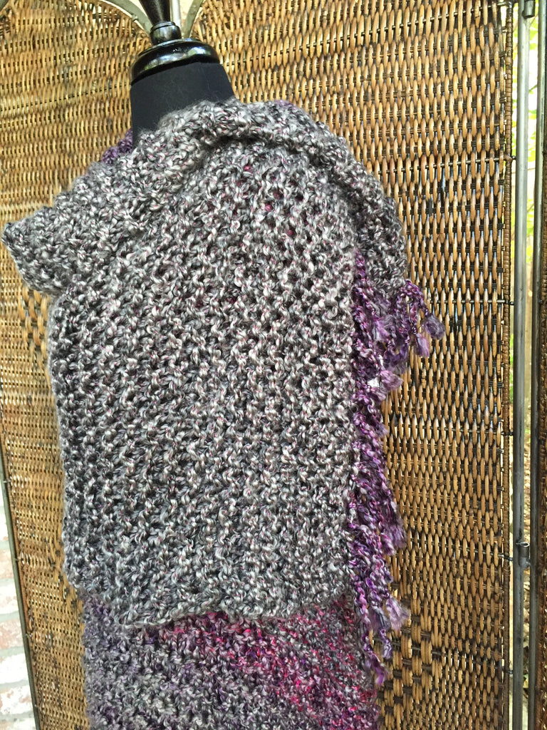 """Gemstone Stripes"" - Rectangle Fringe Wrap"