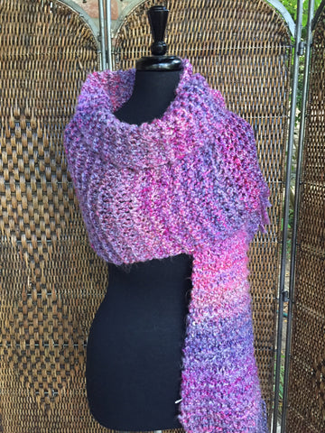 """Mixed Berries"" - Rectangle Fringe Wrap"