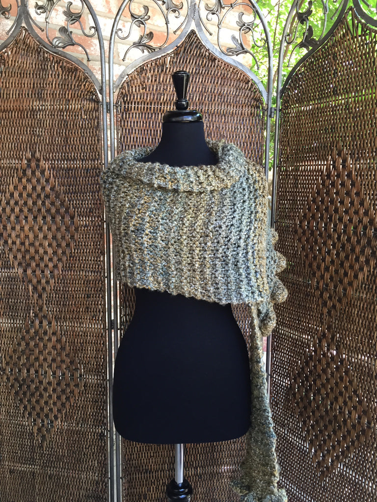 """Meadow"" - Rectangle Ruffle Wrap"