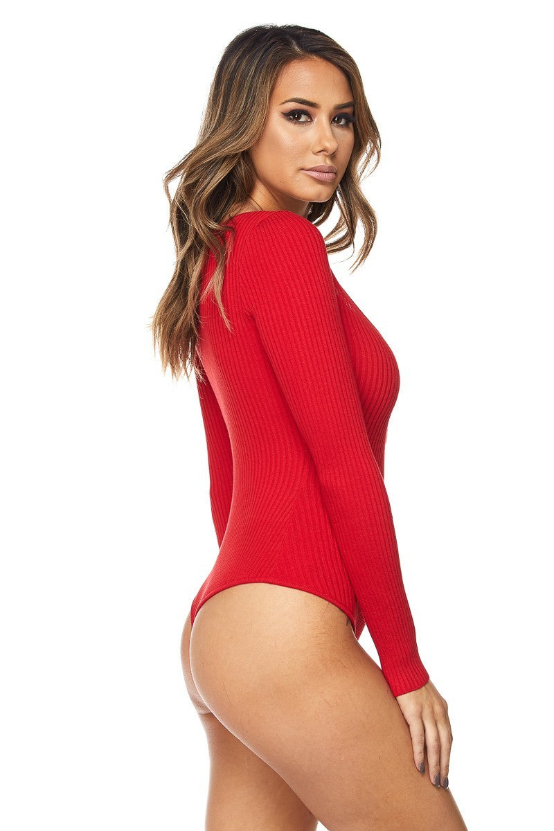 WOMENS HERA COLLECTION BODYSUIT - RED
