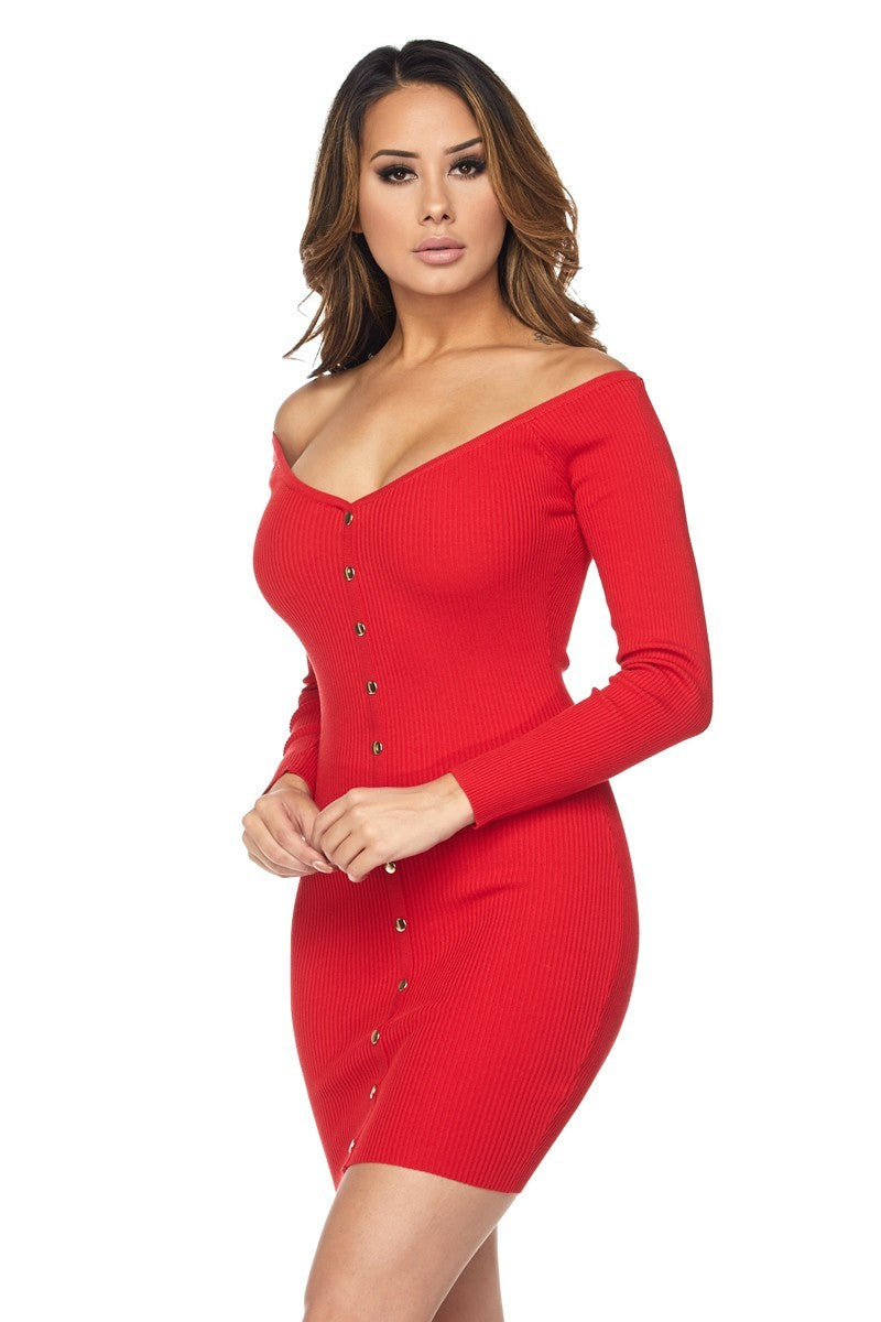 WOMENS HERA COLLECTION DRESS - RED