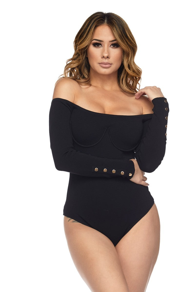WOMENS HERA COLLECTION BODYSUIT - BLACK
