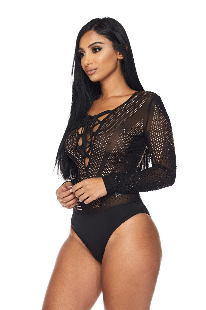 WOMENS BLACK BODYSUIT - BANJUL COLLECTION