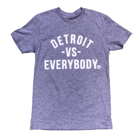 DETROIT VS EVERYBODY T-SHIRT GREY/WHITE