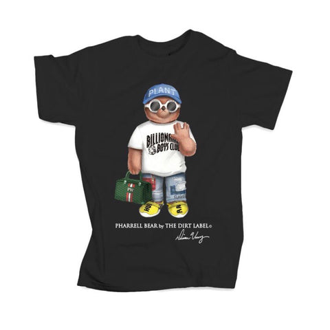 DIRT LABEL PHARRELL BEAR T-SHIRT BLACK M1045