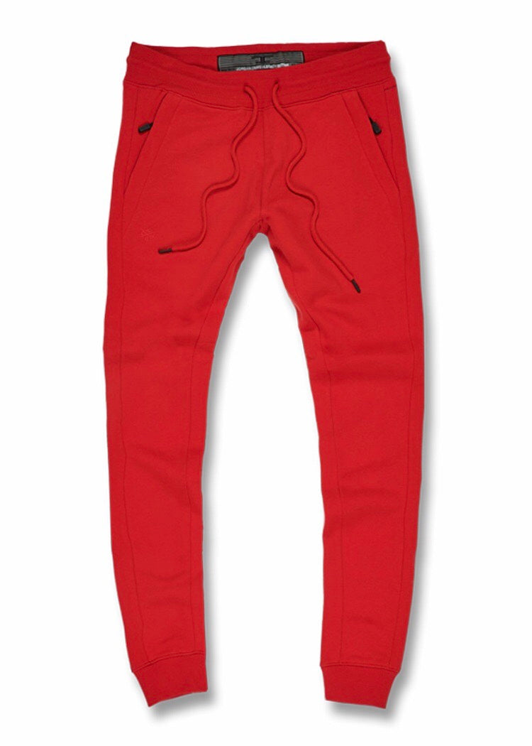 JORDAN CRAIG UPTOWN JOGGER SWEATPANTS - RED