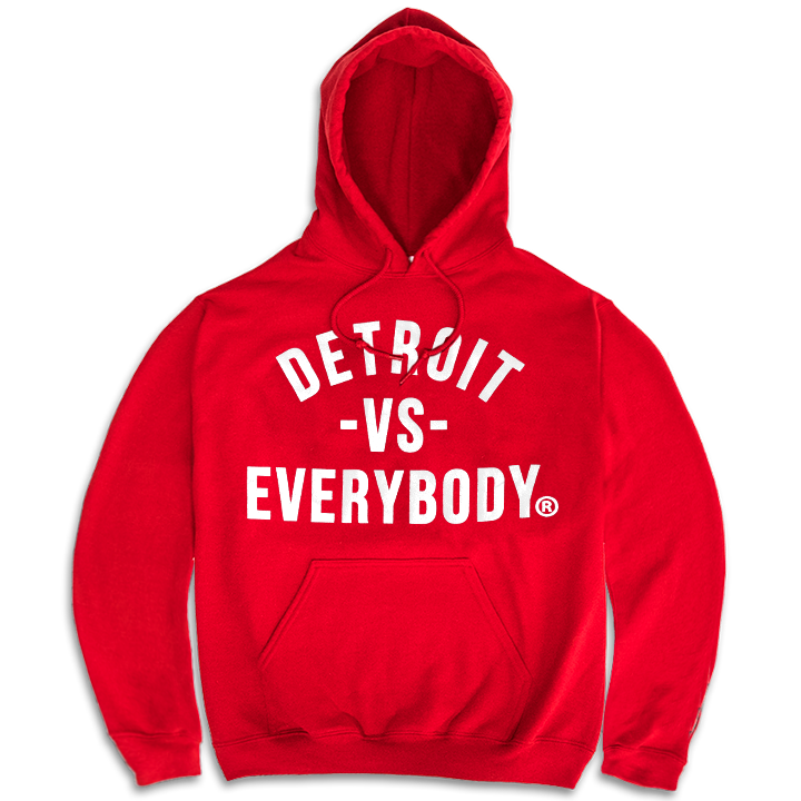 DETROIT VS EVERYBODY HOODIE RED/WHITE