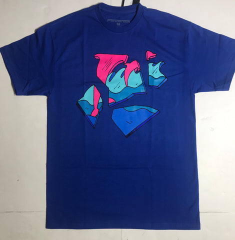 PINK DOLPHIN SHATTER WAVES TEE PS11911SWBU