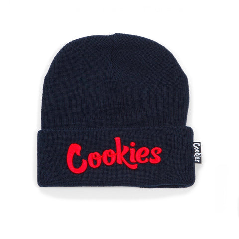 COOKIES KNIT BEANIE ORIGINAL MINT NAVY/RED