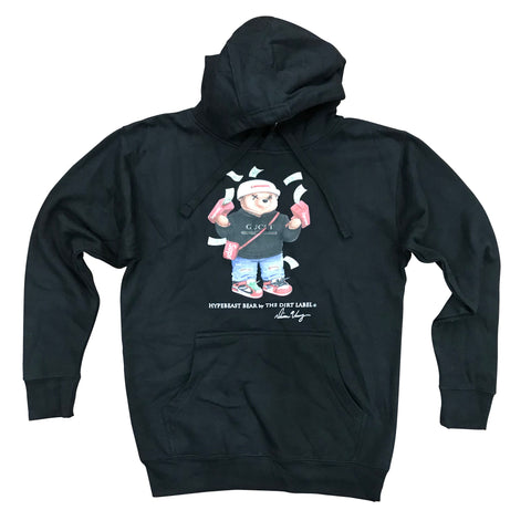 DIRT LABEL HYPEBEAST BEAR HOODIE - BLACK M2580