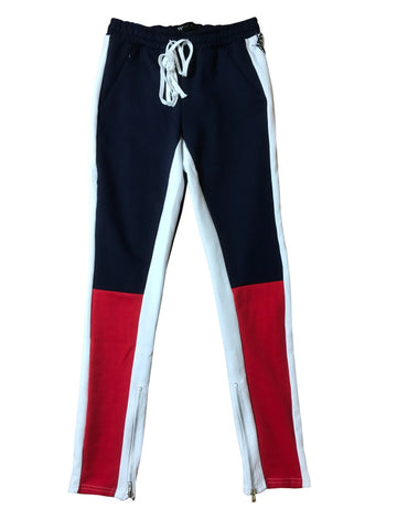WAIMEA JOGGING PANTS - NAVY/RED/WHITE