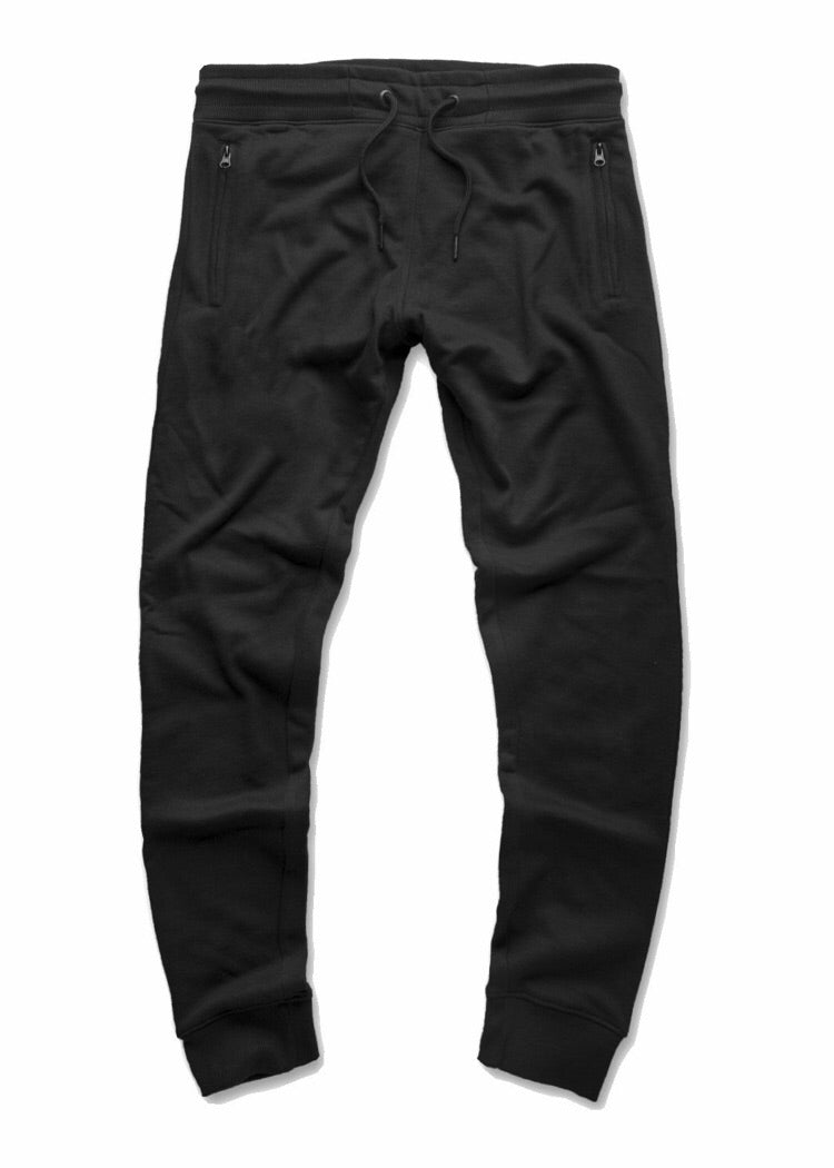 JORDAN CRAIG FRENCH TERRY JOGGER SWEATPANTS - BLACK