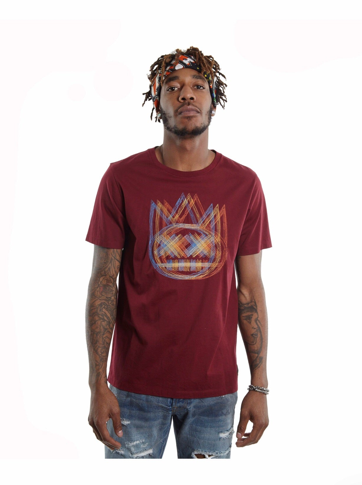 CULT OF INDIVIDUALITY T-SHIRT BURGUNDY