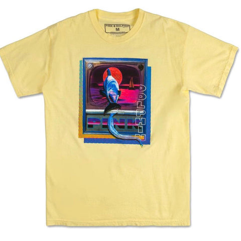 PINK DOLPHIN TUBE TEE YELLOW