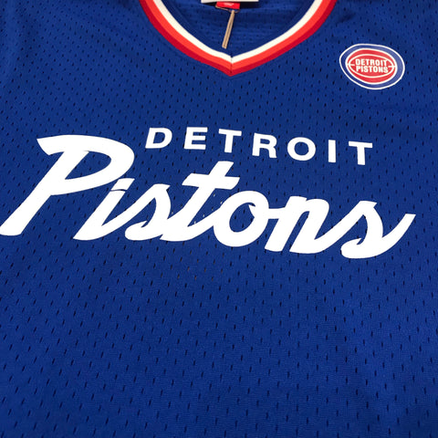 MITCHELL AND NESS PISTIONS JERSEY BLUE