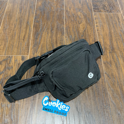 COOKIES SMELL PROOF FANNY PACK BLACK