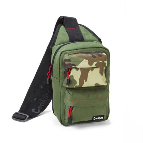 COOKIES SMELL PROOF SLING BAG OLIVE