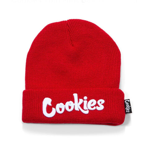COOKIES KNIT BEANIE ORIGINAL MINT RED/WHITE