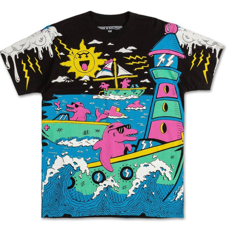 PINK DOLPHIN BACK BAY TEE BLACK