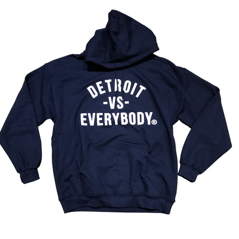 DETROIT VS EVERYBODY HOODIE NAVY/WHITE