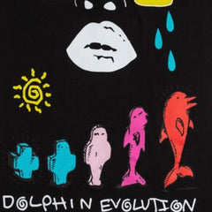 PINK+DOLPHIN TEE EVOLUTION BLACK