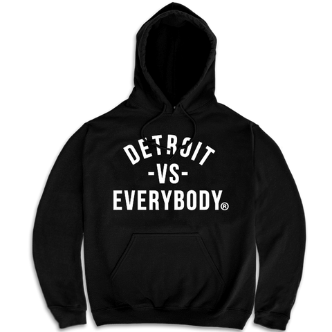 DETROIT VS EVERYBODY HOODIE BLACK/WHITE